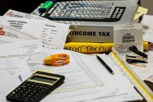 person doing taxes