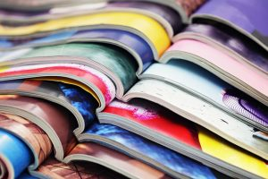Colorful magazine pages are one of the packing materials you shouldn't use when moving.