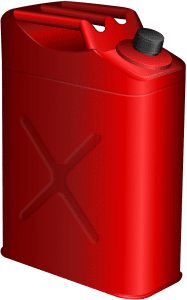 gasoline can that you need to handle non-storable items