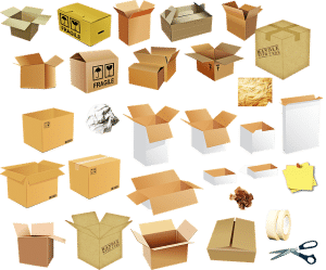 different moving boxes that will help with unpacking mistakes to avoid