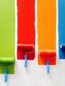 painting the walls is one of the household repairs after the move that you can perform by yourself